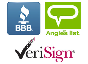 angie's list, better business bureau logos